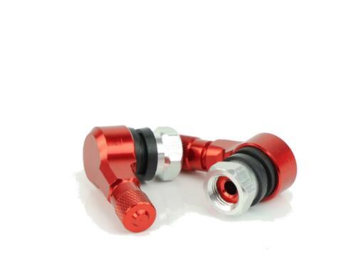CNC alu angle valve 90 degré suzuki GSXR 750 modèle J gr77b 1988 rouge