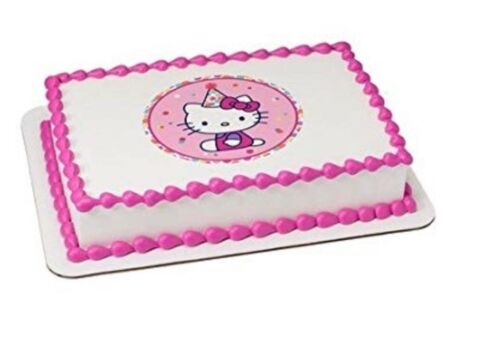"Hello Kitty LUCKS Edible Icing Image 7"" Round"
