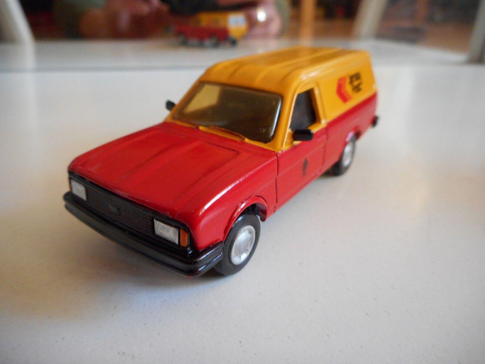 Hand Built Model Roxley Models Ital utility Van   Jersey Post  in Red Yellow 1 43