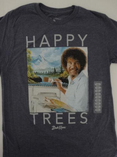 Bob Ross Artist Happy Trees Joy Of Painting Indigo Heather T-Shirt