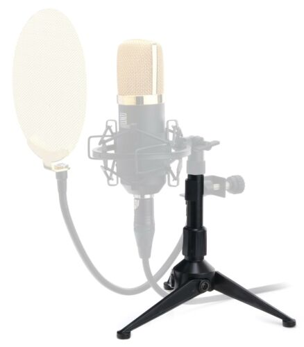 Superprofessionelles Mini Stativ für Tischmikrofon Mikroständer DJ Poadcasting