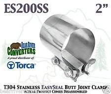 """2"""" Torca EasySeal Stainless Butt Joint Band Exhaust Clamp Sleeve ES200SS"""