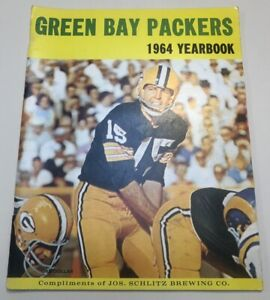 1964 Green Bay Packers Yearbook Bart Starr RARE Schlitz Brewing Co. NICE