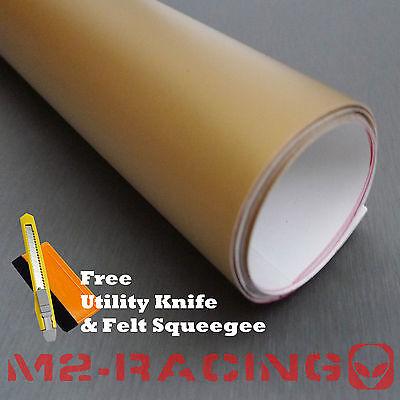 """*24""""x60"""" Premium Flat Matte Gold Vinyl Wrap Sticker Decal Sheet Bubble Free Film"""
