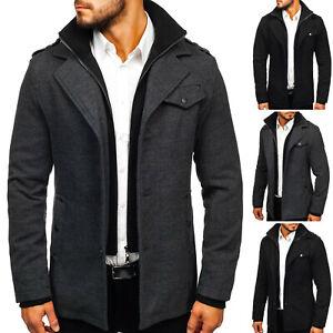 Details zu Mantel Coat Wintermantel Stehkragen Sakko Classic Zip Herren BOLF 4D4 Basic