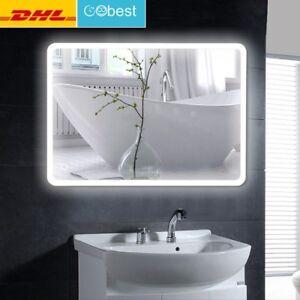 LCD BAD SPIEGEL Badezimmerspiegel mit Beleuchtung Badspiegel Wandspiegel 80*60