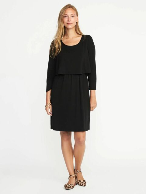 53a57039252 OLD NAVY Maternity by Gap ~ New! NWT XXL ~ Black DOUBLE LAYER ...