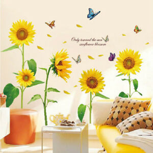 Sunflower-Wall-Art-Stickers-Removable-Vinyl-Decal-Mural-Home-Office-Decor-Gift