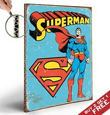 SUPERMAN RETRO POSTER PRINT * A4 THICK  Marvel Comic Heroes OLD VINTAGE Wall Art