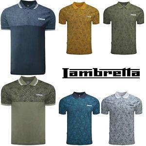 Details about Lambretta Paisley Polo Shirts Mens Printed T-Shirts Cotton Summer Tees UK S-4XL