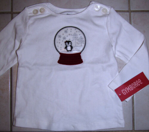 NWT Gymboree Pengiun Chalet Winter Snow Globe Tee Top 2T Toddler NEW