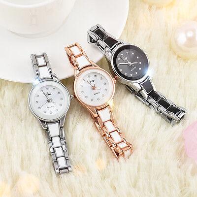 Womens Luxury Fashion Bracelet Watch Analog Quartz Stainless Steel Wrist Watch