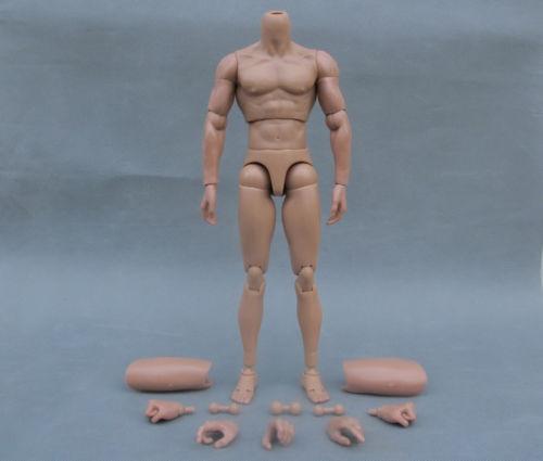 "1//6 Very HOT Narrow Shoulder Nude Male Muscle Body 12/"" Figure Man B005 model Toy"