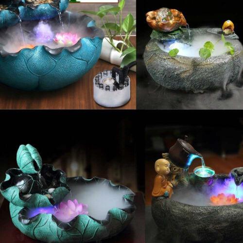 Ultrasonic Mist Maker Fogger Water Fountain LED Air Atomizer Humidifier