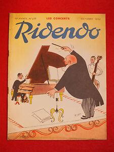 REVUE-HUMORISTIQUE-RIDENDO-N-233-OCT-1959-LES-CONCERTS