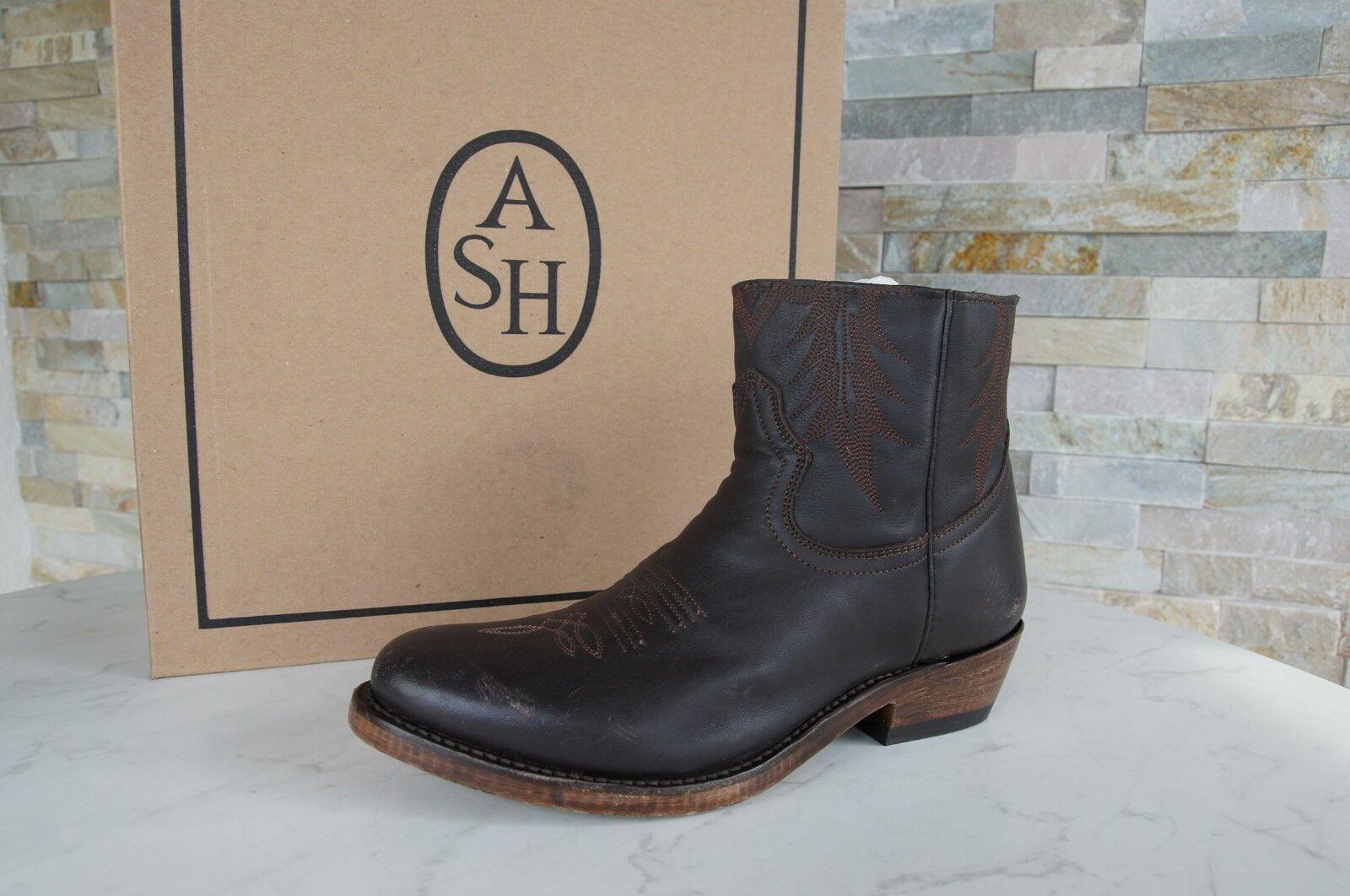 Ash Gr 38,5 Botas Zapatos Botines Vintage Country Príncipe Marrón Nuevo