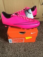 PINK NIKE KIDS BOYS GIRLS JR MERCURIAL VICTORY FOOTBALL BOOTS SIZE UK 4.5
