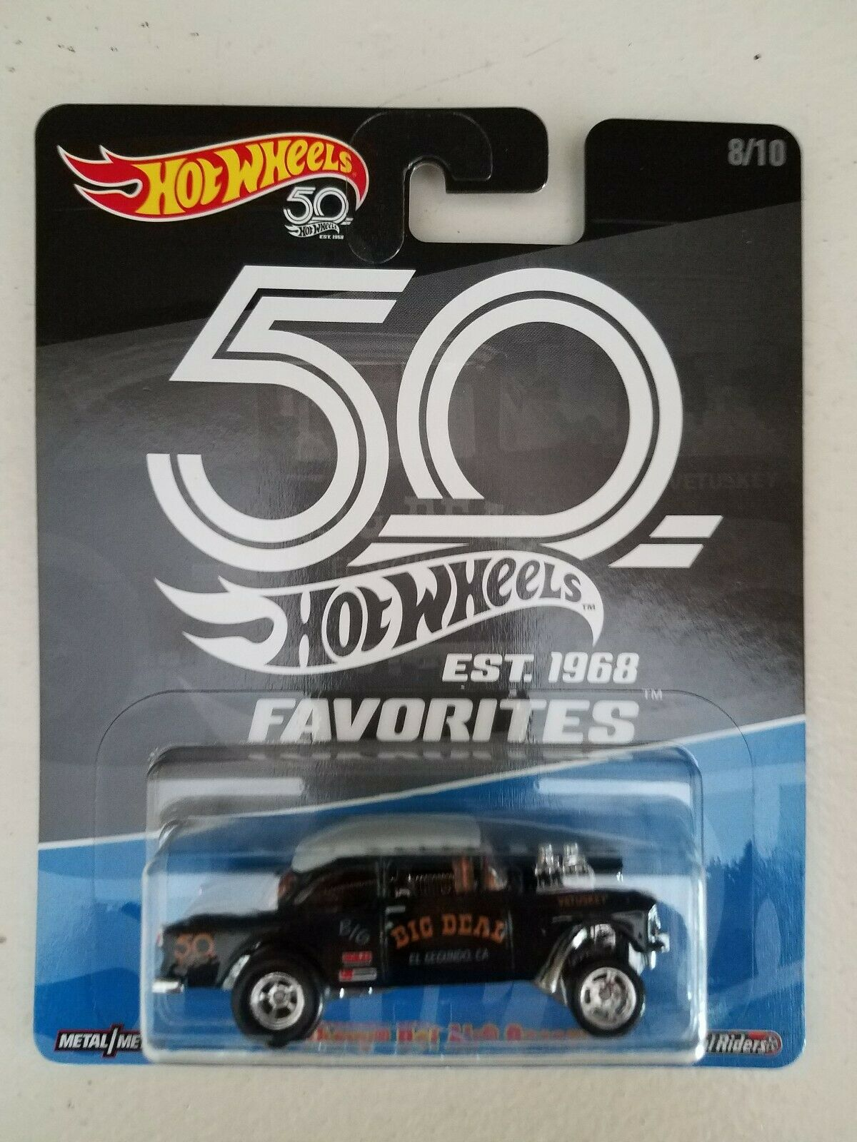 Hot Wheels 50th aniversario negro Gasser