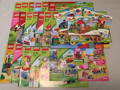 LEGO DUPLO 15 Stück Bauanleitungen ungelesen NEU