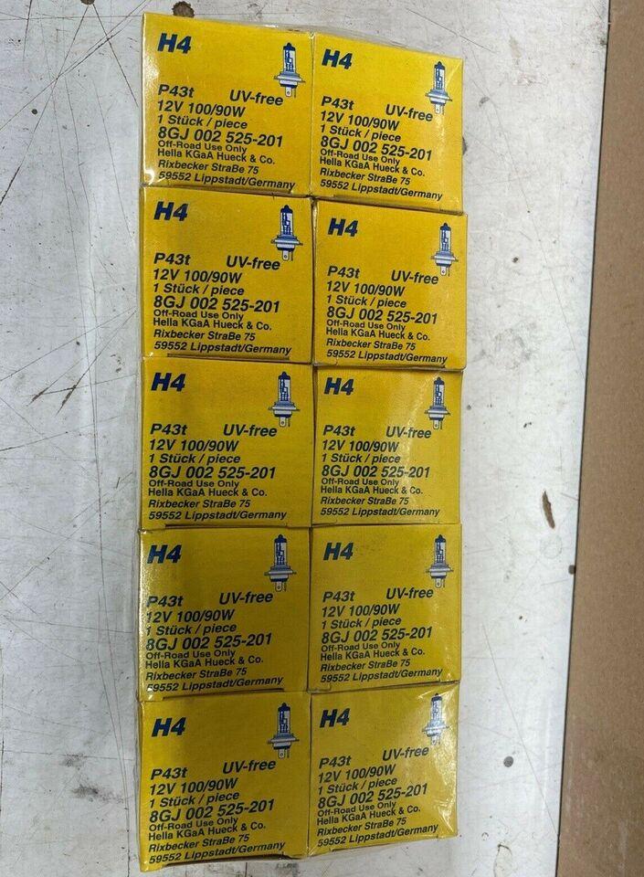 H4 12v 100/90w (10 stk)