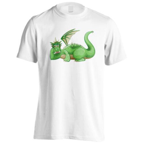 Cartoon Funny Dragon Fairytale Men/'s T-Shirt//Tank Top g207m