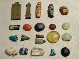 3000years-ancient-Egyptian-chronology-gemstone-glass-Fiance-amulet-a-group-21