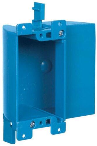 CARLON 1 Gang Blue Plastic Interior Old Work Shallow Rectangular Electrical Box
