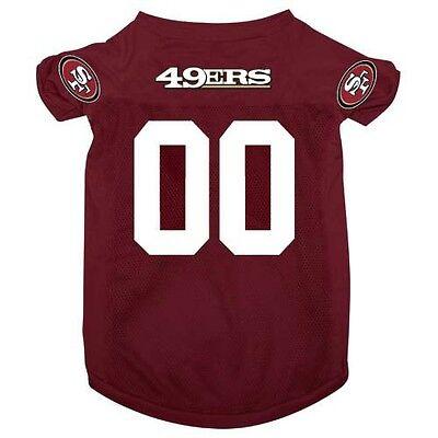 San Francisco 49ers Pet Dog Football Jersey Alternate LARGE