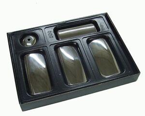 Poignee-portiere-chrome-Housse-pour-Ford-transit-mk6-mk7-4DR-2000-2012-acier