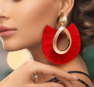 Bohemian-Large-Tassel-Earrings-Women-Handmade-Fringe-Earrings-Statement-Jewelry