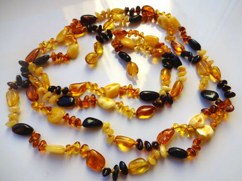 """Real  BALTIC  AMBER Necklace 120cm 47.5/"""""""