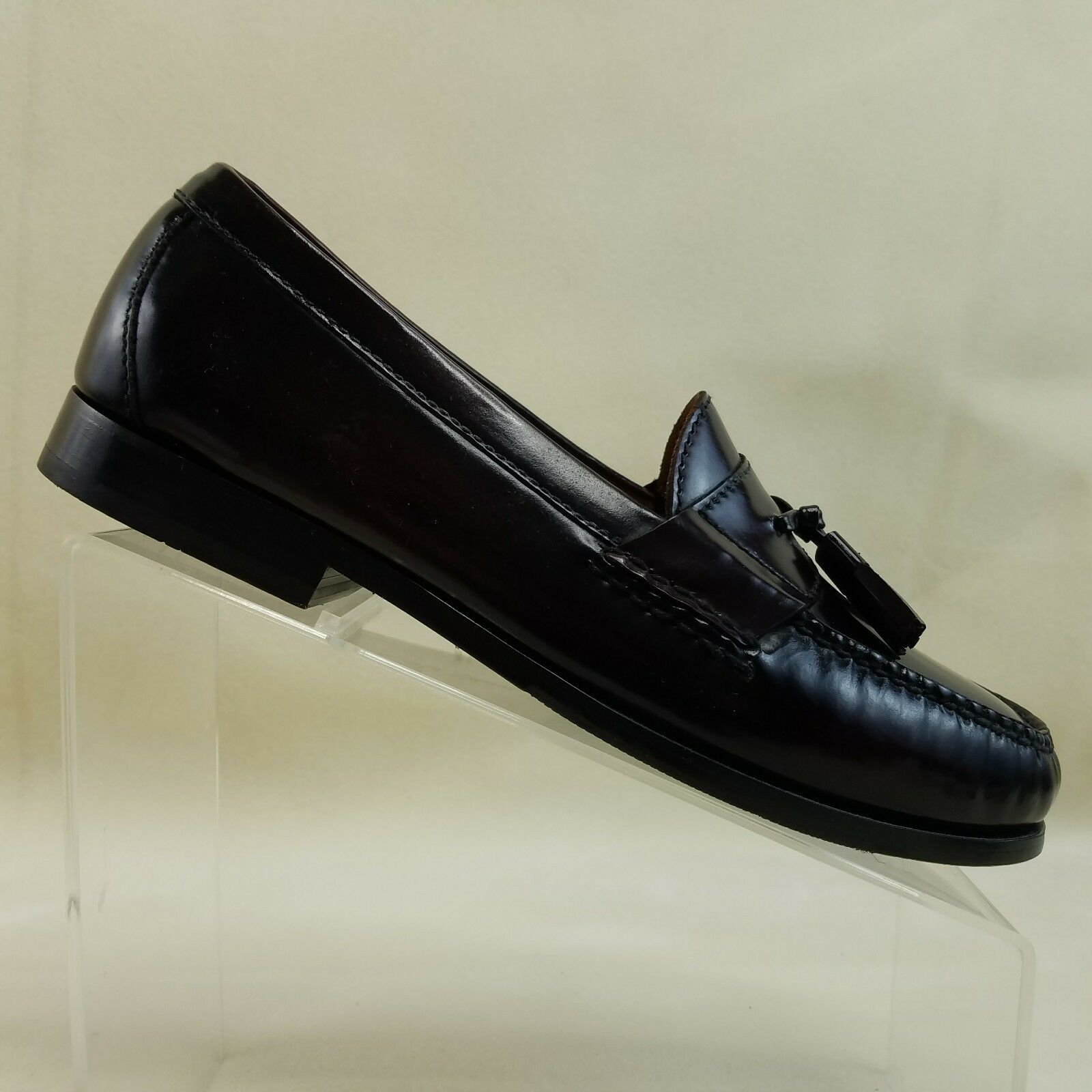 Cole Haan Burgundy Pinch Tassel Loafer shoes C06588 Men's Size 9M  C44