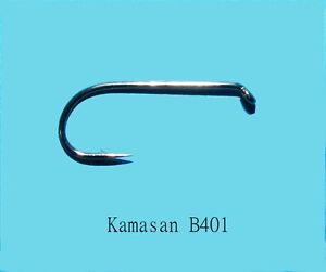 0-13-Stueck-Kamasan-B401-Round-Bend-Fliegenhaken-25-Stueck