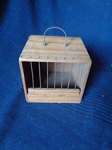 Antica Scatola IN Legno A Cricket Uccelli Telaio Antico Vintage Sigillo Tampone