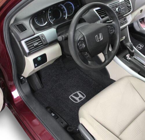 Honda Civic 2 Door Fit Carpet Floor Mats 3PC W//Logo on Fronts 2012-2013 5 Colors