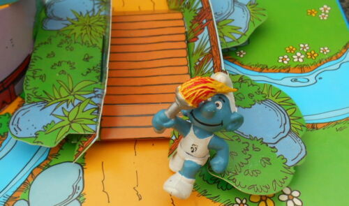 20030 Schtroumpf flamme Belge jeux olympiques smurf puffo puffi pitufo