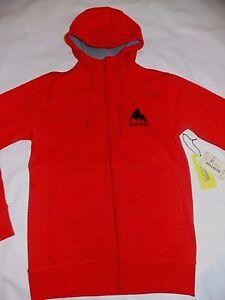 new-men-039-s-Burton-Bonded-Tech-DryRide-Thermex-man-red-hoodie-jacket-Large-L