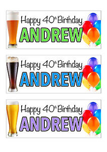 1st 18th 21st 40th 50th ANY AGE 2 PERSONALISED BALLOON BIRTHDAY PARTY BANNERS