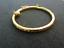 Bracelet jonc rond enfant//fille//bébé en plaqué or jaune+pendentifs Fermoir NEUF