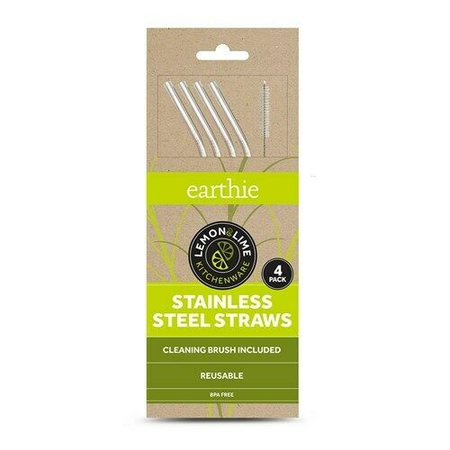 8 Stainless Steel Straws Reusable Straws Metal Straw with  2 Cleaning Brushes