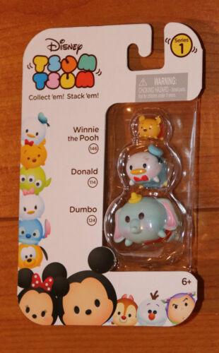 New Disney TSUM TSUM Winnie the Pooh-Donald Duck-Dumbo Elephant Series 1 3 Pack