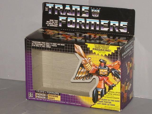 G1 TRANSFORMER ProtAKING DIVEBOMB EMPTY BOX LOT   1