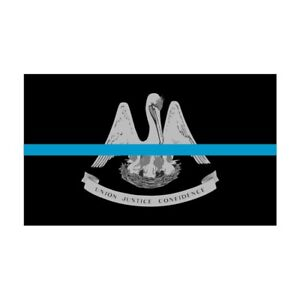 Louisiana-LA-State-Flag-Thin-Blue-Line-Police-Sticker-Decal-256-Made-in-USA