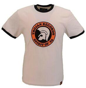 Trojan-Records-Homme-Ecru-Esprit-de-69-100-Coton-Peche-T-Shirt