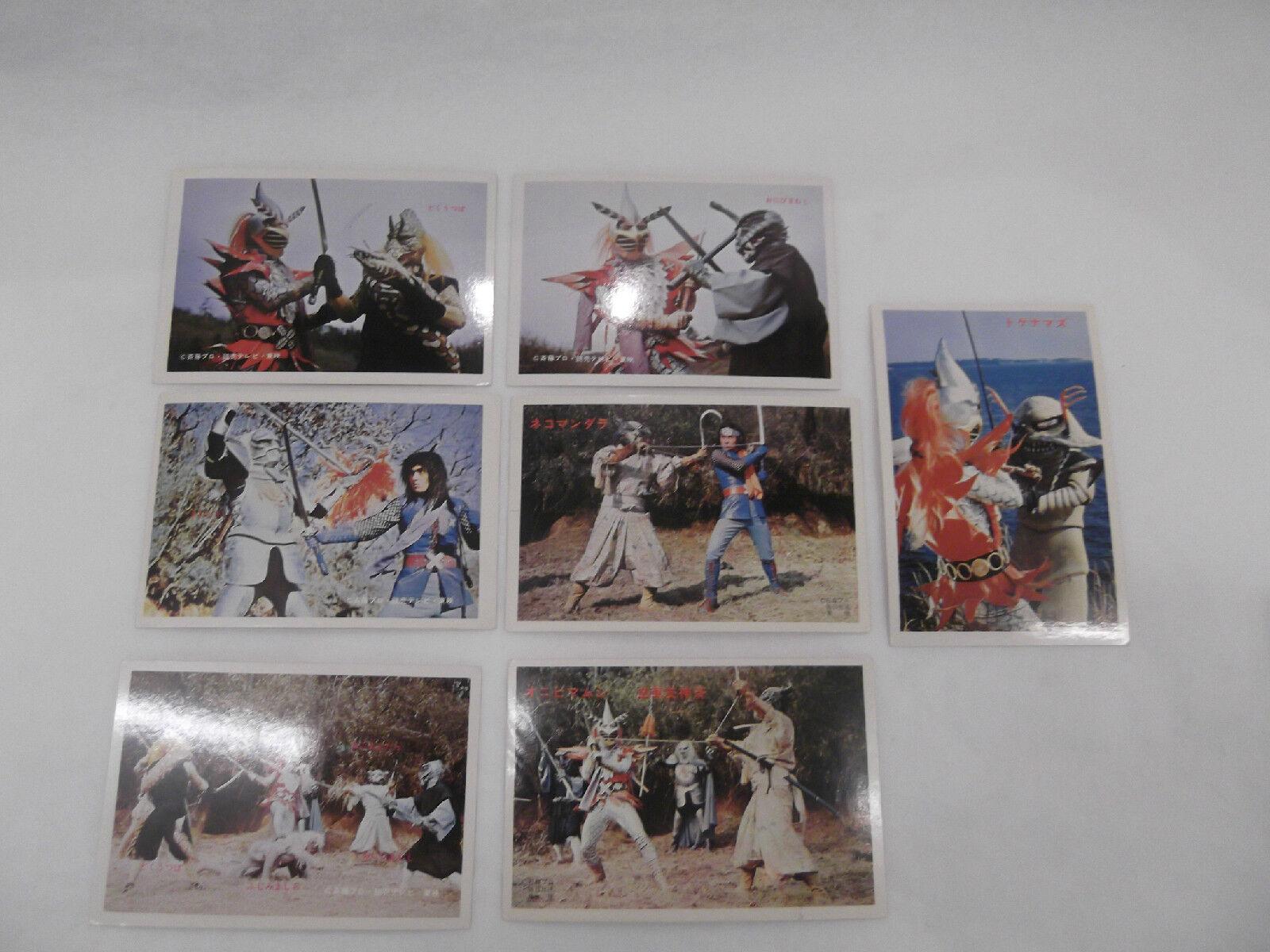 VINTAGE YAMAKATSU NINJA ARASHI  JAPANESE LARGE BROMIDE TRADING CARDS LOT OF 7