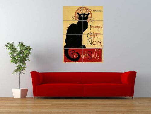Theatre Cabaret Black Cat Chat Paris France Giant Wall Art Poster Print