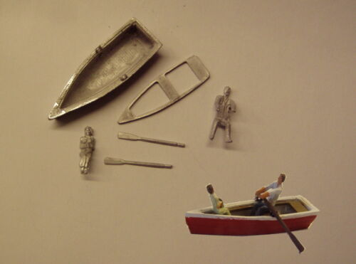 P/&D Marsh OO Gauge PW150 Row boat with man rowing and woman passenger kit