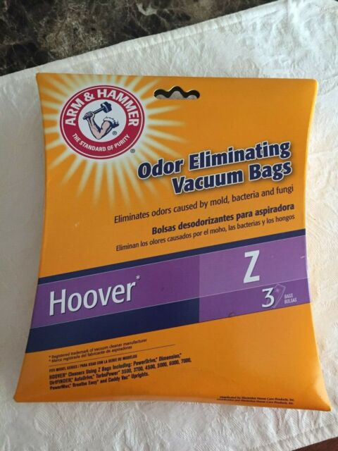 Arm & Hammer HOOVER Z Odor Eliminating Vacuum Bags Count of 3 New in Bag