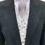 Black Tailcoat And Wedding Lilac 3 Silver Stripe Trousers Piece Leaf Waistcoat Hqr6RxH