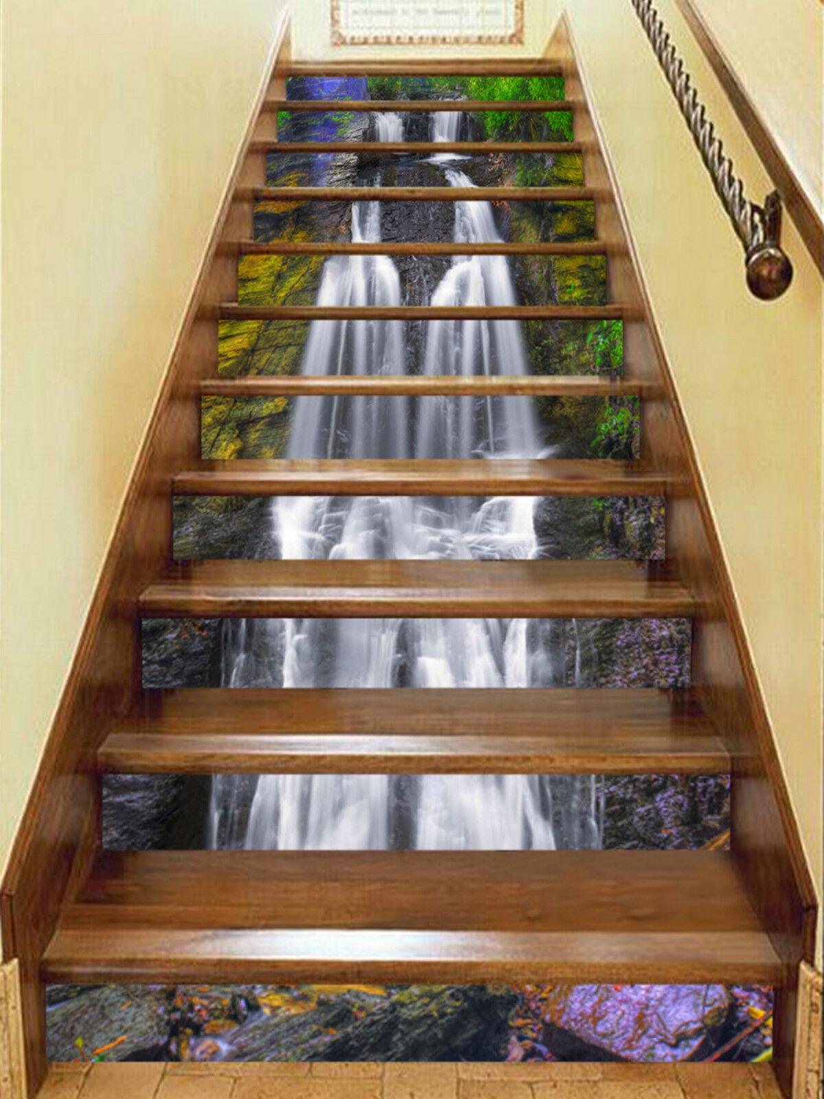 3D Farbe Bach 247 Stair Risers Dekoration Fototapete Vinyl Aufkleber Tapete DE